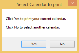 Select calendar to print